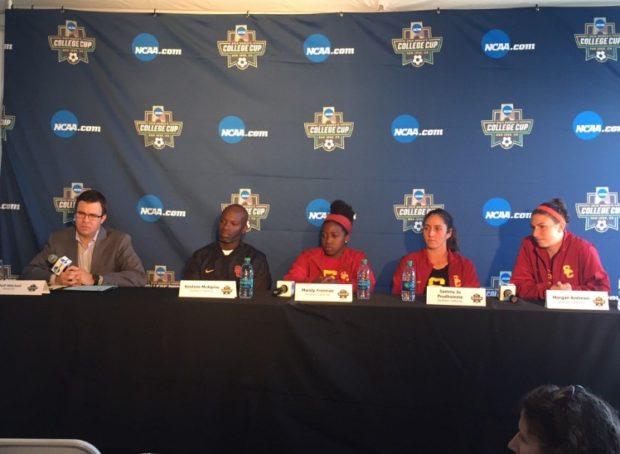 College Cup finalist USC boasts one of the more diverse teams in the country. (photo courtesy USC W. Soccer Twitter