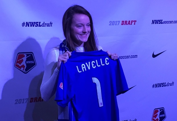 Because the draft was right next to USWNT camp, No. 1 pick Rose Lavelle was able to attend. (photo by Dan Lauletta)