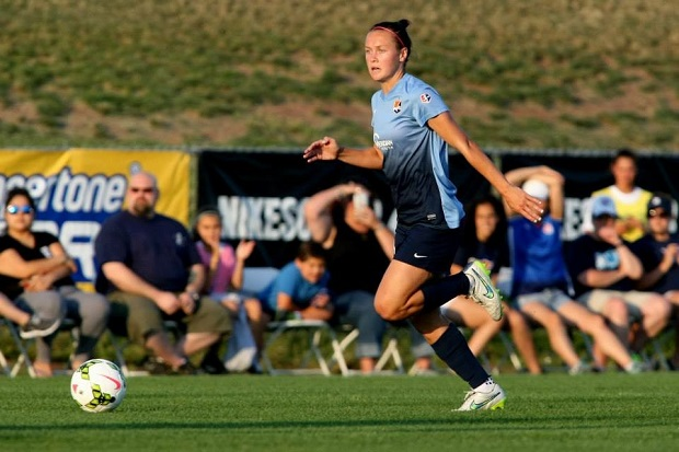 Caitlin Foord will not be returning to the NWSL in 2017, signing instead with Vegalta Sendai in Japan. (photo by Robyn McNeil, Sky Blue FC)