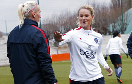 Amandine Henry is joining her old nemesis Patis Saint-Germain on a short-term loan. (photo: PSG)