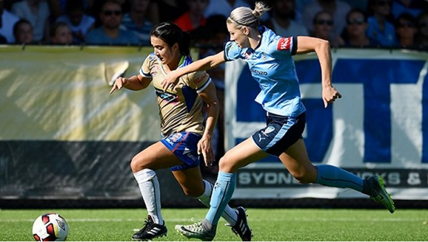 Newcastle Jets defeated top-ranking Sydney FC, 3-1, in the W-League Round 13 action. (photo courtesy Sydney FC)