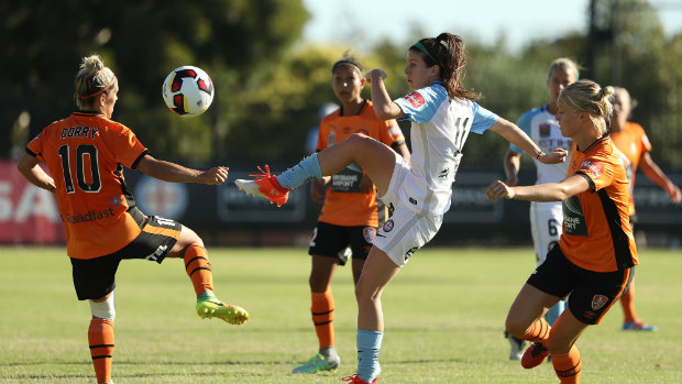 Erika Tymrak helped Melbourne City end its winless streak, defeating Brisbane Roar, 3-1. (photo courtesy Westfield W-League)