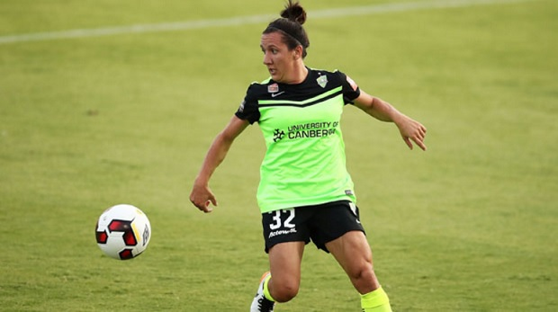 Lisa De Vanna faces a disciplinary hearing following an incident in Canberra United's semifinal loss. (photo courtesy FFA)