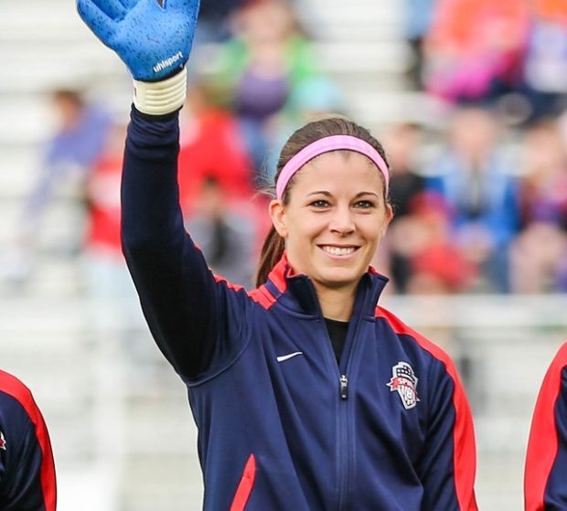 Steph Labbe was subsidized back to the Washington Spirit, but she did not want to talk about the team's offseason (photo copyright EriMac Photo for The Equalizer)