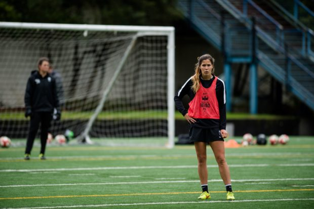 NCAA champion Katie Johnson has earned a contract with Seattle Reign FC (photo: Seattle Reign FC)