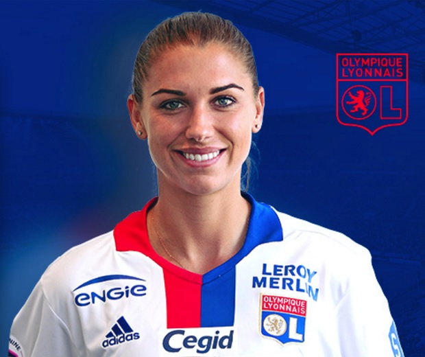Alex Morgan won all three available trophies during her brief stint at Lyon. (photo courtesy Olympique Lyonnais)