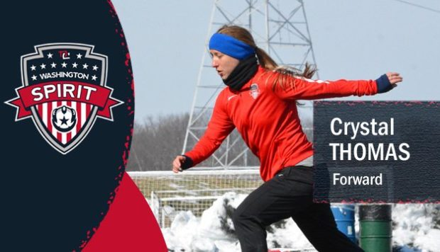 Crystal Thomas braved the cold of preseason and two weeks into the regular season, has a contract to play for the Spirit.