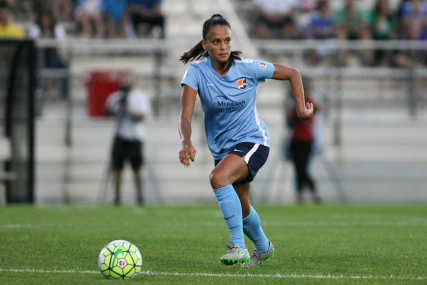 The Texas Tech alum hopes to continue building her game and getting better each year (photo courtesy of ISI Photos and Sky Blue)