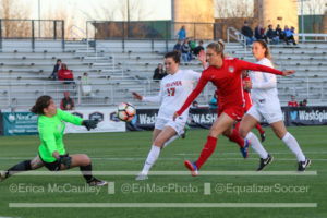 Kristie Mewis chips UVA's keeper to score for the Spirit. (photo copyright EriMac Photo for The Equalizer)