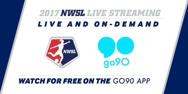 NWSL games will now be available on the go90 platform via app and desktop