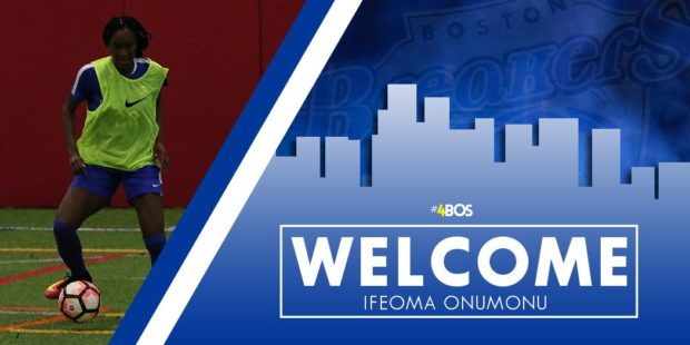 Ifeoma Oumonu won a contract to play as a rookie on the 2017 Boston Breakers (photo: Boston Breakers)
