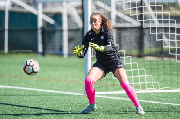 Kailen Sheridan collected her first professional win and shutout in Sky Blue's home opener (Photo: Sky Blue FC)