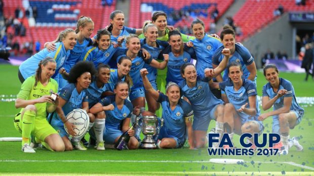 Manchester City Ladies won their first FA Cup on Saturday and now hold all three of England's domestic trophies. (photo: Man City women)