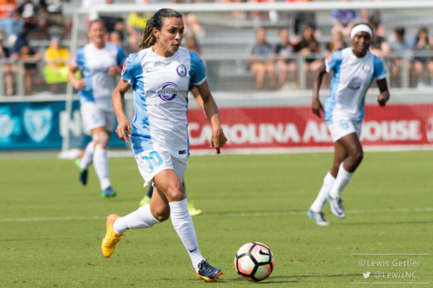 The Orlando Pride is in desperate need of a result, but will be Marta be enough against the Courage? (photo copyright Lewis Gettier)