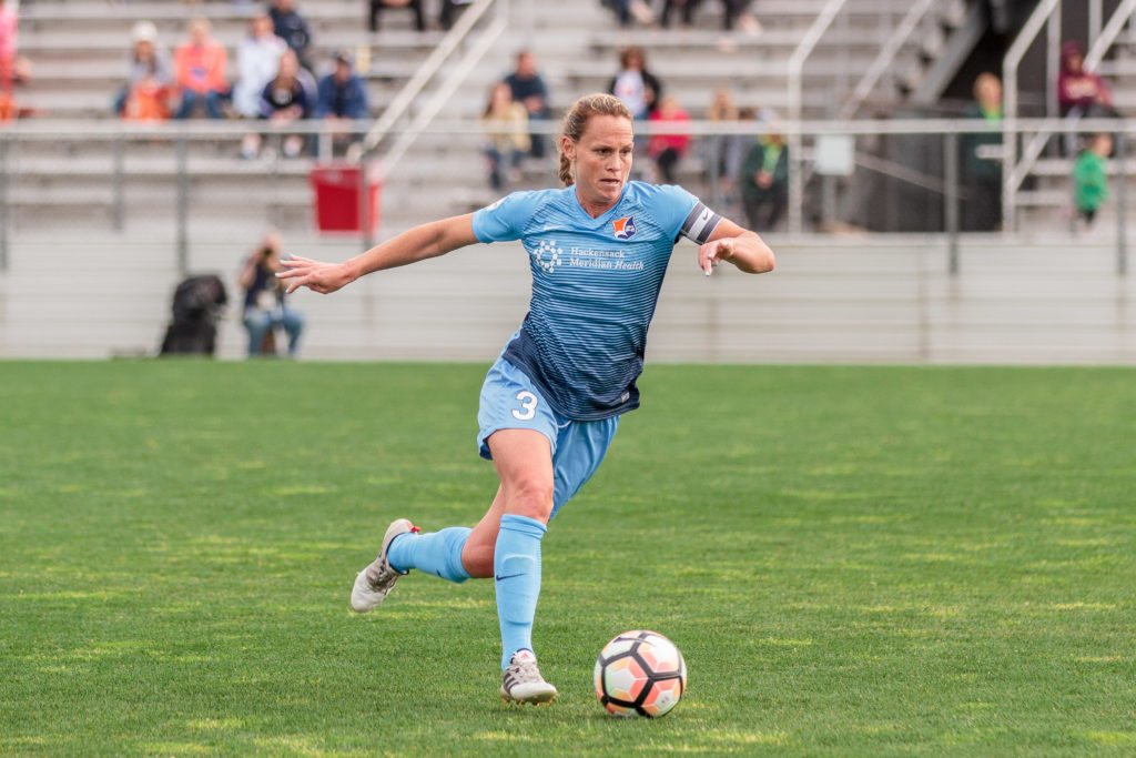 Christie Pearce and Sky Blue are now 2-0-0 at Yurcak Field this season. (photo copyright Katie Cahalin for The Equalizer)