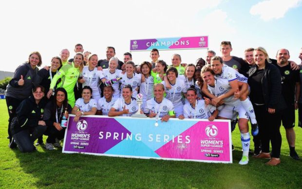 Chelsea beat out Manchester City on goal difference to take the FAWSL Spring Series.
