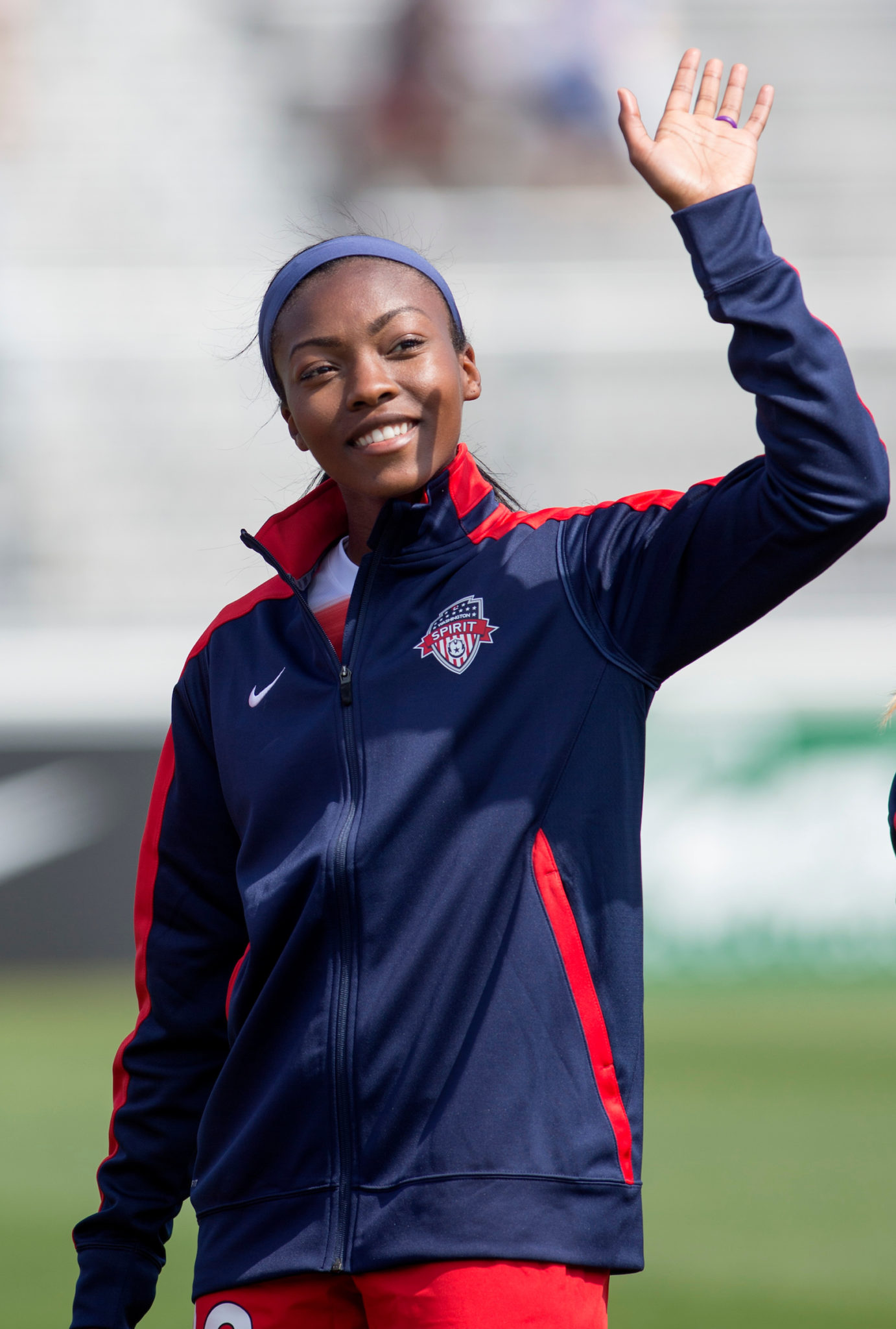 """To date, Williams' has played almost as many minutes in seven games this season as she played in 17 last season for the Spirit. (Credit"""" Washington Spirit/ISI Photos)"""
