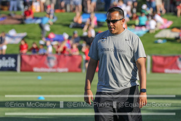 Omar Morales has been named Houston Dash interim head coach for the remainder of the 2017 season. (photo copyright EriMc Photo for The Equalizer)