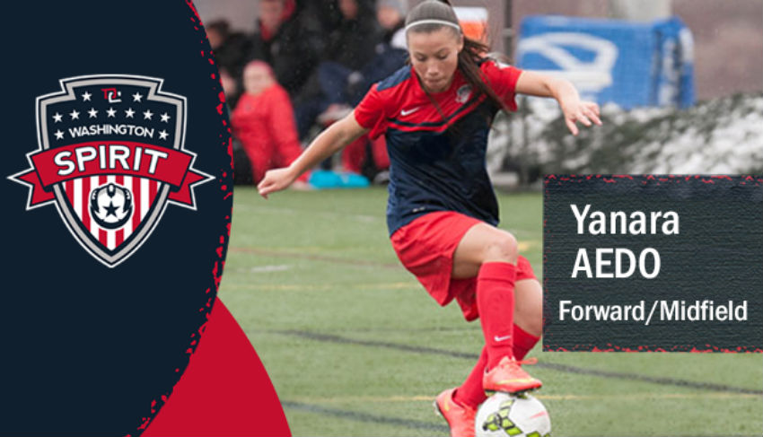 The Spirit have signed former Valencia CF and Spirit Reserves forward Yanara Aedo. (photo courtesy Washington Spirit)