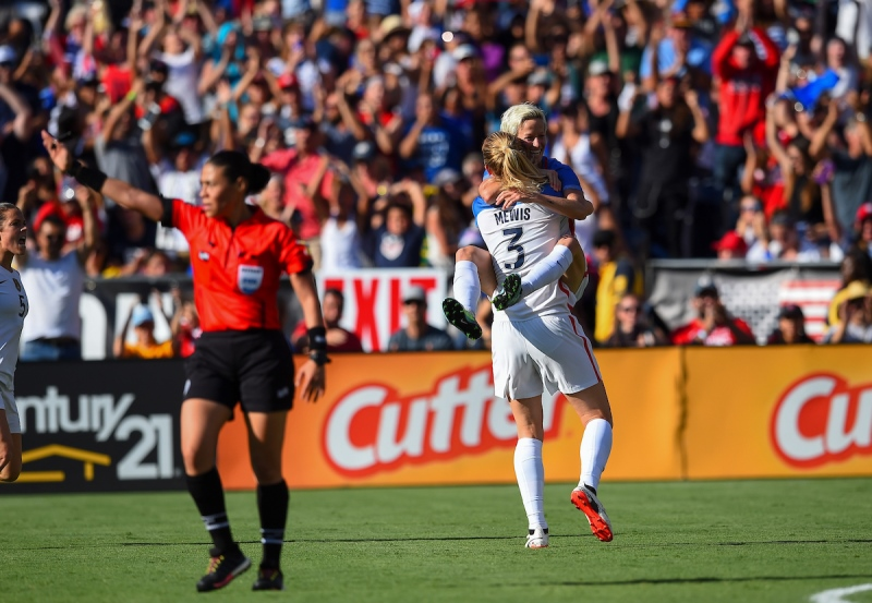 Sam Mewis and Megan Raipnoe.  (photo:  U.S. Soccer)