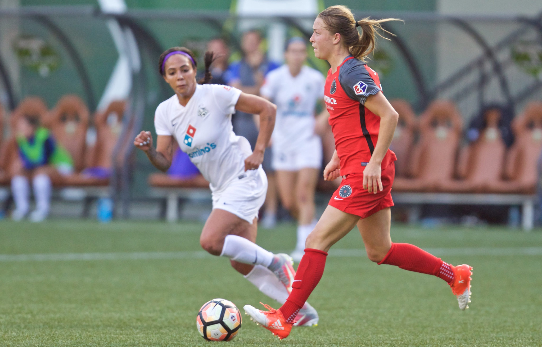 Emily Sonnett and the Portland Thorns are looking to score more goals and win more games as they approach the second-half of the 2017 NWSL Season (Credit: Thorns FC and Craig Mitchelldyer)