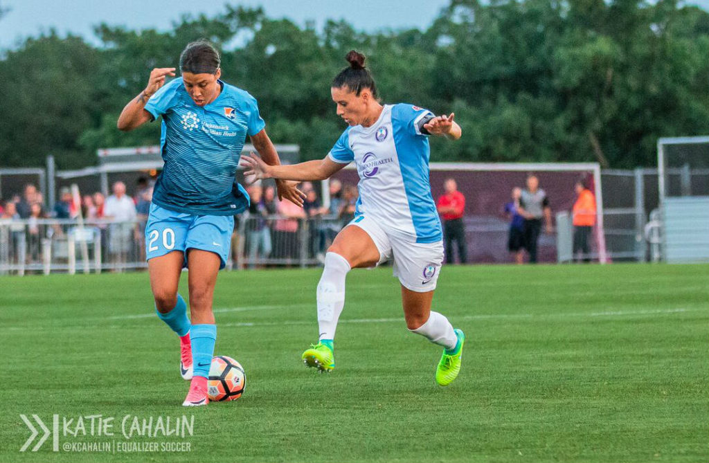 Sam Kerr earned Player of the Month honors with her stellar performance in June. (photo copyright Katie Cahalin for The Equalizer)