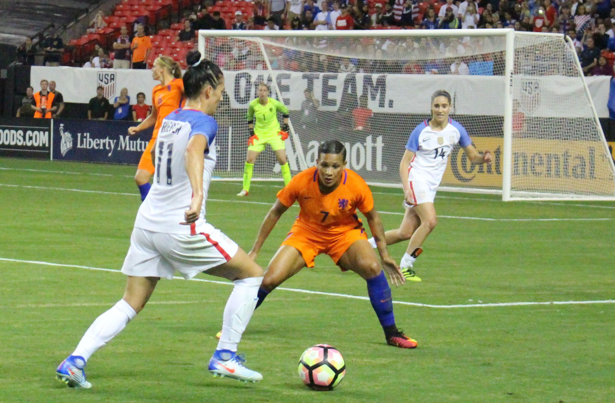 Shanice van de Sanden is quickly becoming on of EURO 2017 rising stars. (photo by Allison Lee)