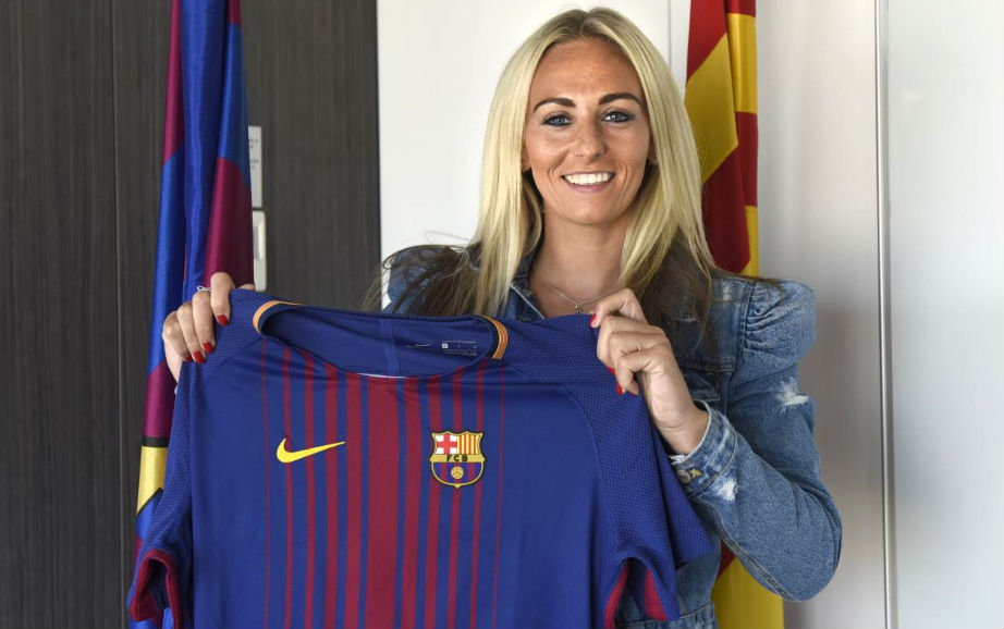 England's Toni Duggan is leaving Man City for Barcelona. (photo courtesy FC Barcelona)