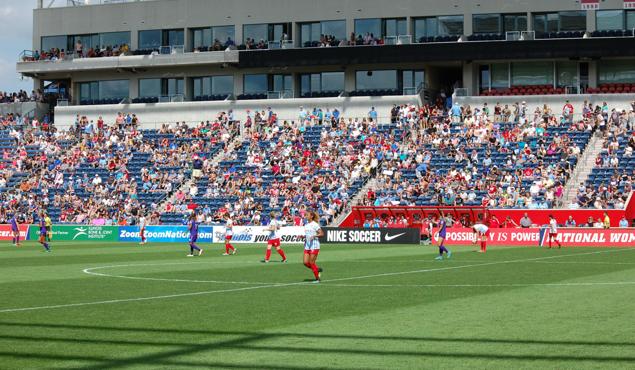 The Chicago Red Stars enjoyed a record crowd at Saturday's Game of the Week match against the Orlando Pride. (photo by John D Halloran)