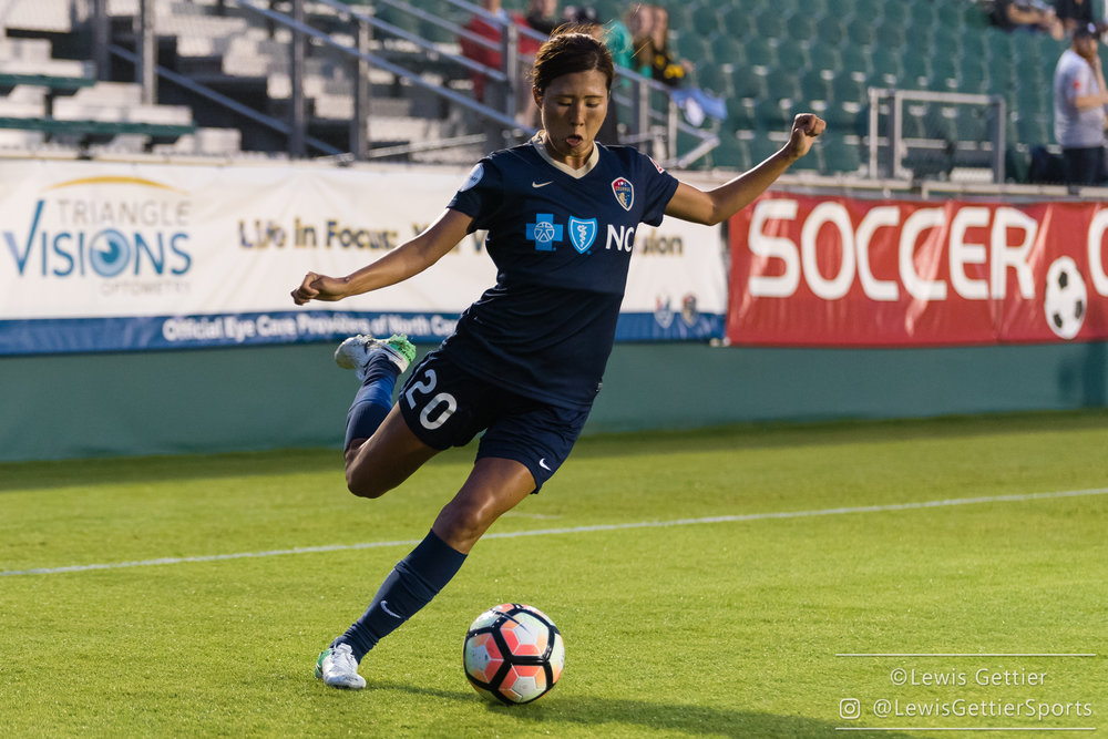 Yuri Kawamura has undergone surgery to repair a torn ACL and meniscus. (photo by Lewis Gettier)