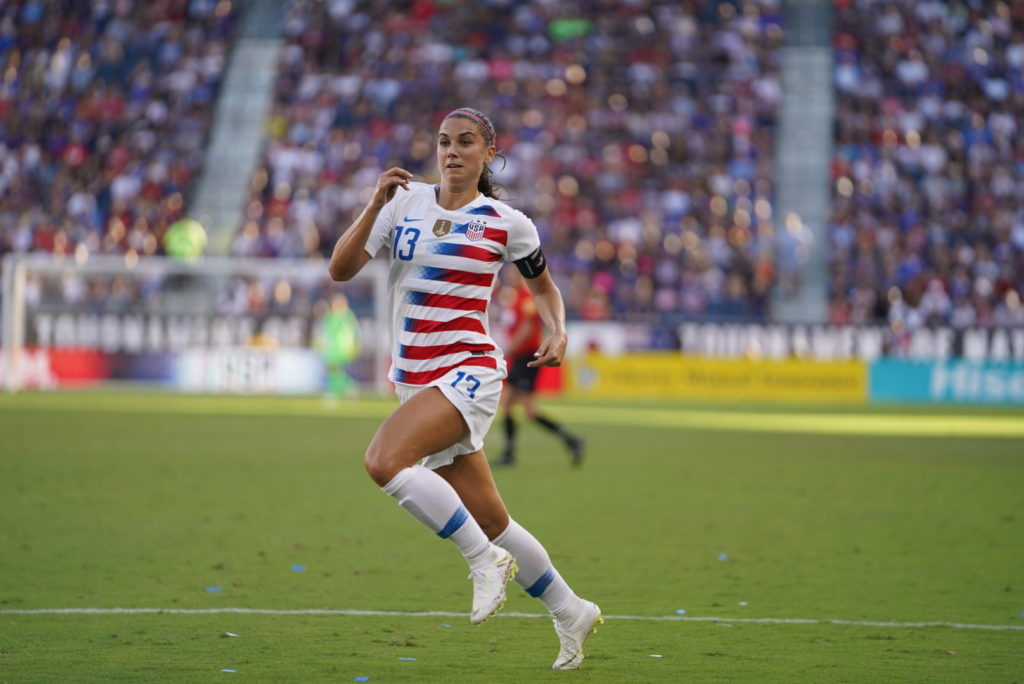 e0311450a9c Morgan s hat trick leads USWNT past Japan in Tournament of Nations ...