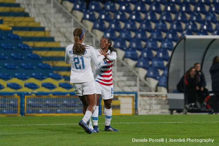 Jess McDonald's first international goal carried the United States women's national team to the 500th win in program history, 1-0 over Portugal at Estadio Antonio Coimbra de Mota near Lisbon. The North Carolina Courage striker made good on her first start for the U.S. and scored when she followed up her own shot that had […]