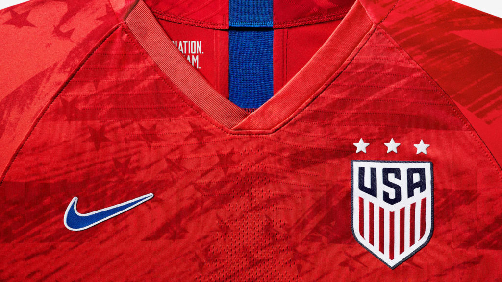 finest selection 5f2ee 1fe02 Nike unveils white and red USWNT kits, all 2019 Women's ...